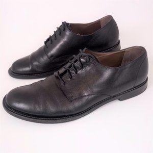 Marni Men 42 9 Black Leather Oxford Dress Shoes